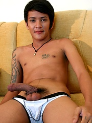 Gay Asian Twink Gus Strikes a Pose