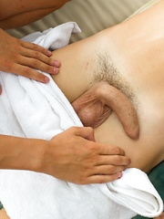 Dennis uses his friend's feet to wank with