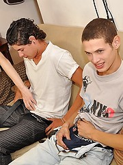 Two boys Jesus and Nico both had their eyes on sexy teen gay Julian