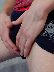 Cute, horny twink Wolf beats his rock-hard willy so frantically he breaks a sweat in this solo. ...
